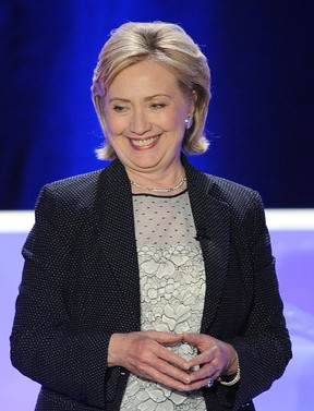 CENTURY CITY, CA - JUNE 19: Former Secretary of State Hillary Rodham Clinton is honored at Public Counsel's William O. Douglas Dinner at the Hyatt Regency Century Plaza on June 19, 2014 in Century City, California.   Angela Weiss/Getty Images/AFP== FOR NEWSPAPERS, INTERNET, TELCOS & TELEVISION USE ONLY ==