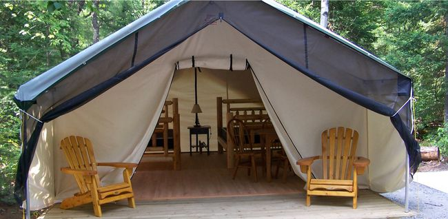 Ontario parks yurts with furniture from Log Furniture and More
