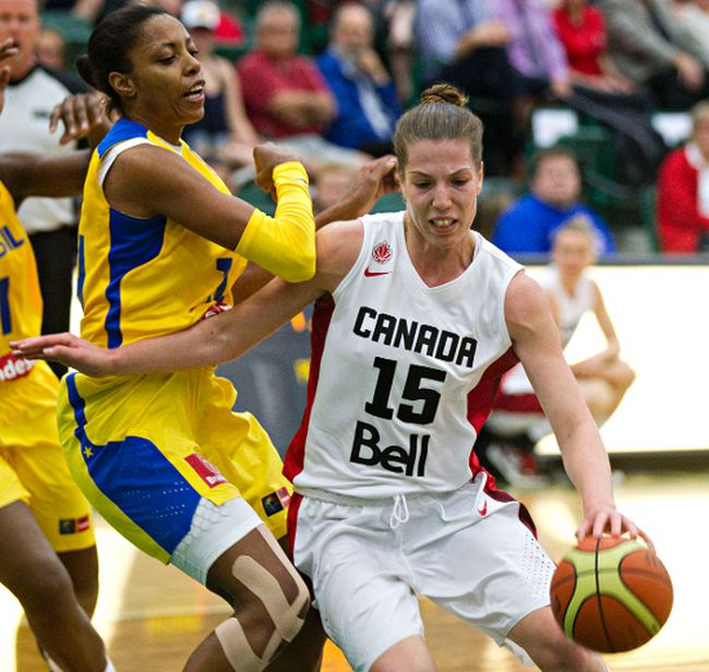 Canada takes on Brazil in basketball action