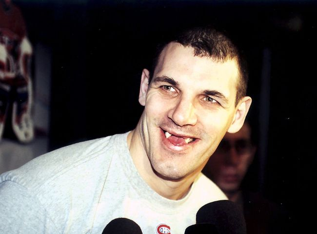 Former NHL forward Gino Odjick has been diagnosed with AL amyloidosis and may have weeks to live. (QMI Agency)