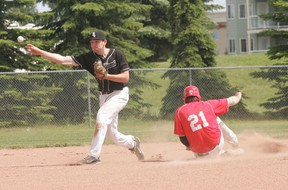 While the Sox (black jersey) have plenty of talent on their roster they are having some trouble putting wins together. That, their coach says, could be the result of no one stepping up to take an on-field leadership role. - Gord Montgomery, Reporter/Examiner