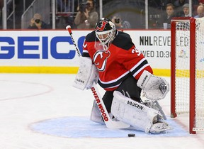 Legendary goaltender Martin Brodeur is a free agent. (USA TODAY SPORTS)