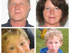 Police are searching for Alvin Cecil Liknes, Kathryn Faye Liknes and their grandson, five-year-old Nathan O'Brien. Photos courtesy of Calgary Police