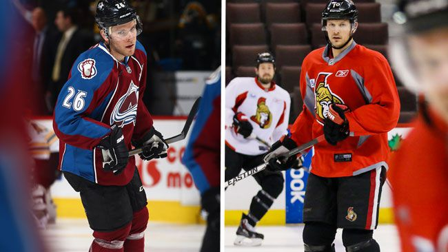 Paul Stastny (Blues) and Jason Spezza (Stars) have found new NHL homes. (AFP/QMI Agency)