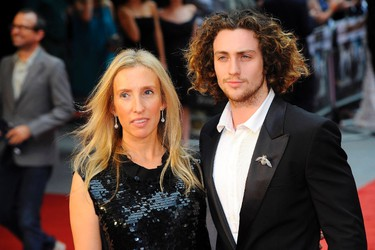 """Aaron Taylor-Johnson and Sam Taylor-Wood. WHEN THEY  MET: Sam Taylor-Wood was 42 and Aaron Taylor-Johnson was a mere 19. WHERE ARE THEY NOW? Married with two daughters. Sam officially changed her last name to """"Taylor-Johnson,"""" but still uses her old one professionally."""