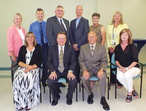The Tillsonburg District Memorial Hospital 2014-2015 Board of Directors includes from left (front row) Crystal Houze, President & CEO; Dr. Barry Roth, Chief of Staff; Reg Butcher, Vice Chair; Jane Esseltine, Treasurer; (back row) Cheryl Buchner, Director; Frank Deutsch, VP & CFO; Mel Getty, Director; Scot Bolton, Director; Ruby Withington, Director; and Josie Edwards, Director. Absent: Larry Phillips, Chair. CONTRIBUTED PHOTO