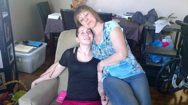 <p>Desiree Gallagher and her mother Susan Gerth. A motorcycle ride fundraiser is being held for Gallagher to help cover her ongoing medical costs.</p><p>Submitted Photo