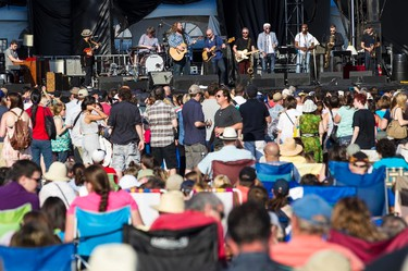 A laege crowd on hand to watch Matt Anderson performing with his band the Mellotones at Bluesfest on Saturday July 5, 2014. Errol McGihon/Ottawa Sun/QMI Agency