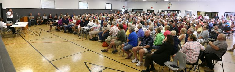 About 500 people attended a recent public meeting by Friends of Sauble Beach on a land claim by Saugeen First Nation. Concerned residents are holding more meetings on Friday and Saturday in Sauble Beach. (JAMES MASTERS/QMI AGENCY)