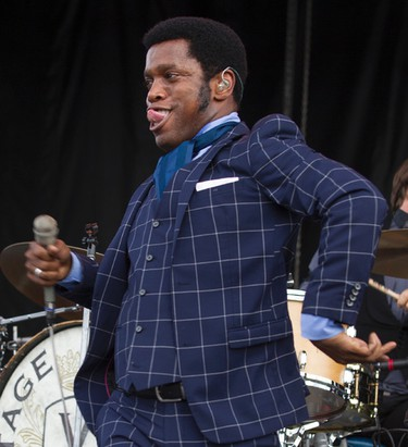 Vintage Trouble front man Ty Taylor performing at Bluesfest on Sunday July 6, 2014. Errol McGihon/Ottawa Sun/QMI Agency