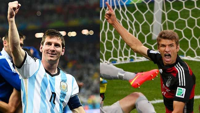 Lionel Messi and Thomas Mueller will be vital to their squads success in the World Cup final on Sunday. (REUTERS)