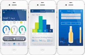 Saying When helps users identify problem drinking behaviours, set personal goals and track their progress using their smartphone. (QMI Agency)