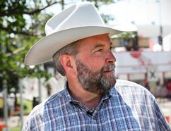 <p>Federal NDP Leader, Thomas Mulcair, talks to the media before attending the Stampede Saturday afternoon in Calgary, Alta. on Saturday July 12, 2014. Hugo Yuen/Special to the Calgary Sun/QMI Agency