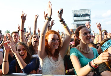 Fans go crazy for Awolnation during their performance at Bluesfest in Ottawa on Saturday July 12, 2014. Matthew Usherwood/Ottawa Sun/QMI Agency