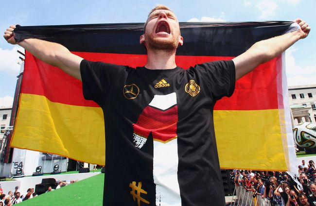 """<p>The German national soccer team is probably running on fumes at this point.<p>  <P>Having just returned to Germany, after partying all night with Rihanna in Rio, the boys brought the World Cup back to Berlin.<p>  <p>Mario Gotze and company appeared to be ready for another party as the young German squad goofed around during the parade and celebrations.<p>  <p><iframe width=""""420"""" height=""""230"""" src=""""//www.youtube.com/embed/exJWWah2M1c?list=PLZhRxE9191zOGgHxF7TE6bRC1ETO6ya3A"""" frameborder=""""0"""" allowfullscreen></iframe><p>  (REUTERS)"""