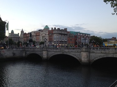 The sun sets over O�Connell Street in the heart of Dublin, Ireland, on June 23, 2014. MICHAEL WOOD/QMI AGENCY