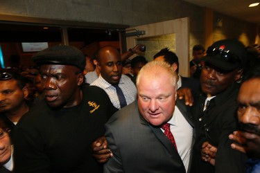 Toronto Mayor Rob Ford at the mayoral debate at Global Kingdom Ministries in Scarborough on Tuesday, July 15, 2014. (STAN BEHAL/Toronto Sun)