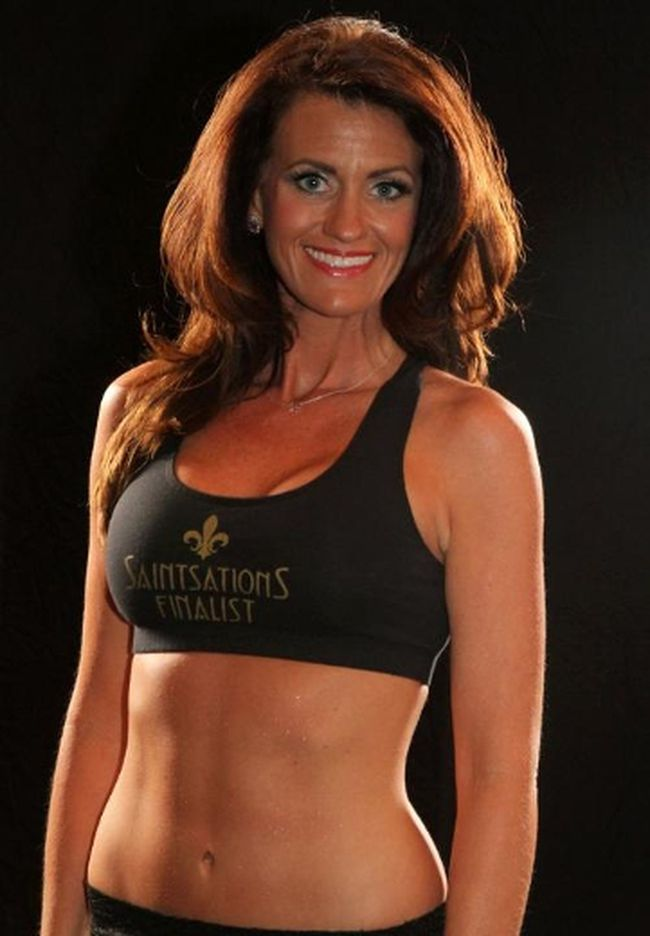 Kriste Lewis, a 40-year-old mother of two boys, is now a New Orleans Saints cheerleader. (NewOrleansSaints.com)