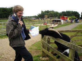At the Cotswold Farm Park, visitors meet endangered breeds of native British animals and partake in farm demonstrations and tractor rides. (photo: Rick Steves)