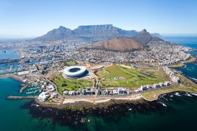 overall aerial view of Cape Town, South Africa. QMI Agency
