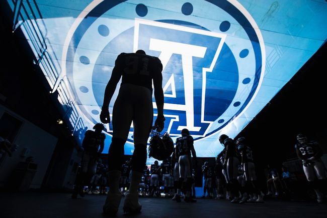 The Toronto Argonauts take the field at the Rogers Centre on July 12. (Mark Blinch, Reuters)
