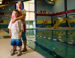 Crystal Staples of Ingersoll has enrolled her son James Lyttle, 6, in swimming lessons at Ingersoll's Victoria Park Community Centre pool after she lost her son Gabriel Lyttle, 2, two years ago in a drowning accident. Mike Hensen/The London Free Press/QMI Agency
