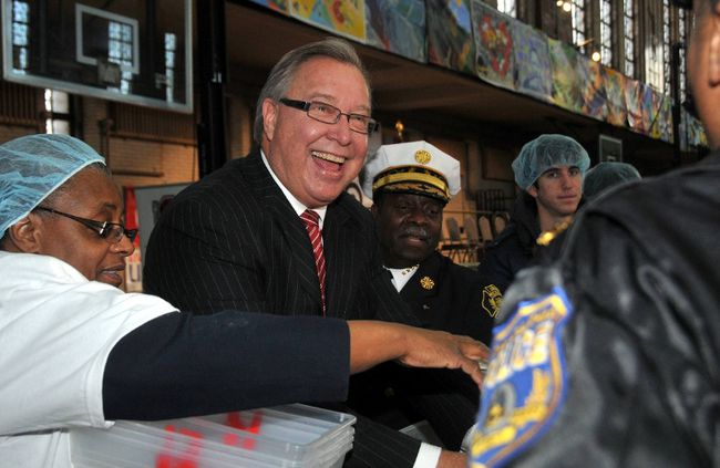 Ron Jaworski at the MLK Day of Service at Girard College. (Hugh Dillon/WENN.com)