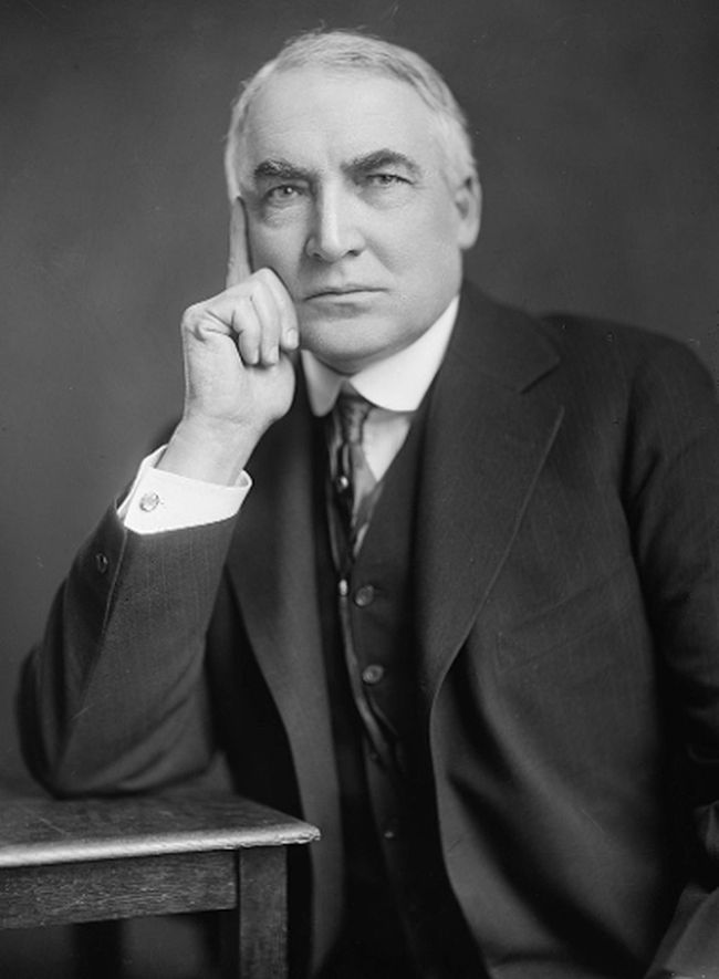 Warren G. Harding, 29th President of the United States. (Library of Congress)