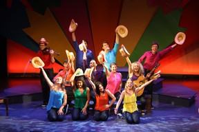 """Cast members of """"Canada Sings"""" perform on the Victoria Playhouse Petrolia stage. A 12-member cast celebrates Canada's rich musical talent in this show, performing songs from the likes of Jodi Mitchell through to Michael Buble. """"Canada Sings"""" runs until July 27. (Submitted photo)"""
