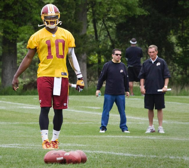 There was plenty of tension between former head coach Mike Shanahan and quarterback Robert Griffin III at Washington. (USA TODAY SPORTS)