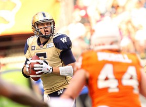 Drew Willy led the Bombers to 23-6 victory over the Lions. (CARMINE MARINELLI/QMI Agency)