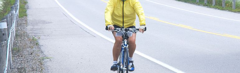 Ellen Cherin of San Diego, pedals west of Talbot Line as part of the Womantours cycling tour Wednesday. she was part of a group that cycled from St. Thomas to Chatham.