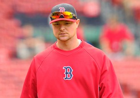 Boston Red Sox pitcher Jon Lester walks out of the batting cage prior to a game against the Toronto Blue Jays at Fenway Park. (Bob DeChiara-USA TODAY Sports)