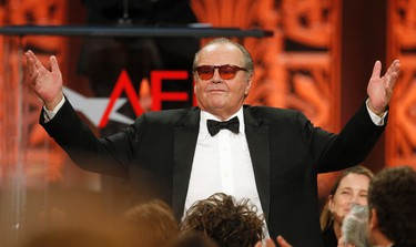1984: The Warren Beatty Tribute staged by Ebert and Siskel attracts Jack Nicholson, among others, and cost overruns become as legendary as the backstage antics. But Nicholson's bad-boy appearance makes up for Year One in 1976, when cynics ragged on fest organizers for not producing him after hinting he might show along with Scorsese and Beatty. None did in '76. Better late than never.      REUTERS/Fred Prouser