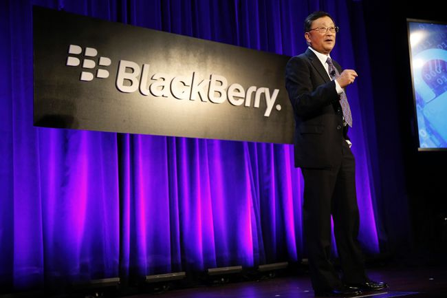 BlackBerry Ltd. chairman and CEO John Chen speaks at the BlackBerry Security Summit in New York City July 29, 2014. REUTERS/Mike Segar