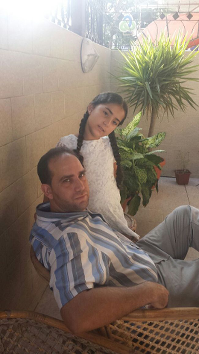 Dr. Hassan Abuzaiter and his daughter Salma are stuck in war-torn Gaza and are trying to get home to Brantford, Ont., as soon as possible. (Photo courtesy of Wesam Amuzaiter)
