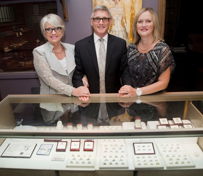 After more than 30 years of operation, Bob Burke Jewellery has closed its doors. From the left, Lorraine and Bob Burke and their daughter Tawny stand in their Richmond Row shop. While Tawny has decided not to run the business herself, Lorraine and Bob plan to enjoy longer vacations in Florida. (DEREK RUTTAN/ The London Free Press)