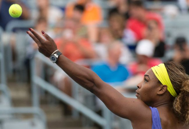Serena Williams at the Rogers Cup on August 6, 2014. (BEN PELOSSE/LE JOURNAL DE MONTRÉAL/QMI AGENCY)