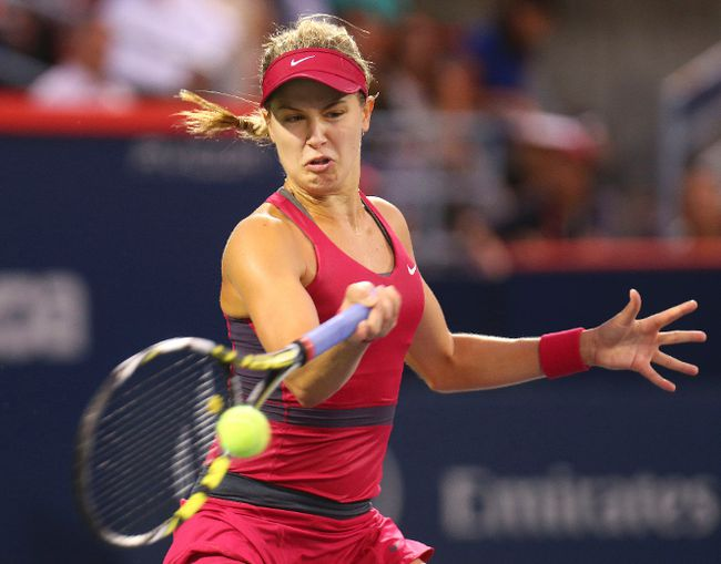 Eugenie Bouchard of Canada might have lost in the first round of the Rogers Cup, but the tournament's organizer explains why she's still positive. (Jean-Yves Ahern-USA TODAY Sports)