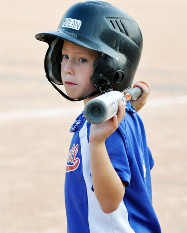 Nolan Vessie of the Mitchell Major Rookie Tier 2 #3 baseball team gets ready for his at-bat during the weekend tournament in Mitchell. ANDY BADER/MITCHELL ADVOCATE