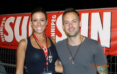 Michelle McFarlane and Dallas Smith at Kenora's Harbourfest August long weekend.
