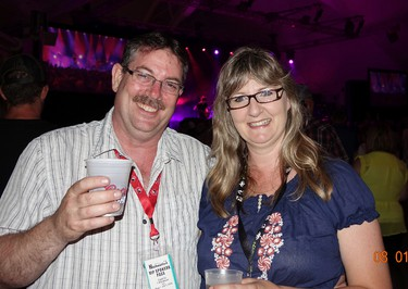 Terry Williams and Julia WIlliams at Kenora's Harbourfest August long weekend.