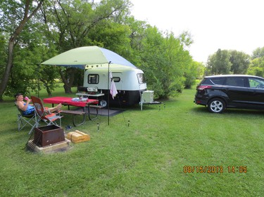 Rick Mooyman and his wife Shirley own a vintage Boler that he customized after finding it as a gutted shell. (HANDOUT)