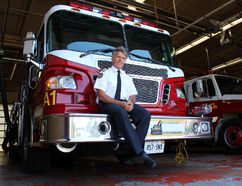 City of Sault Ste. Marie Fire Chief Marcel Provenzano announced Wed., Aug. 13, 2014 that he will be retiring Jan. 31, 2015 after 33 years with the service. (STEPH CROSIER/ QMI AGENCY/ THE SAULT STAR)