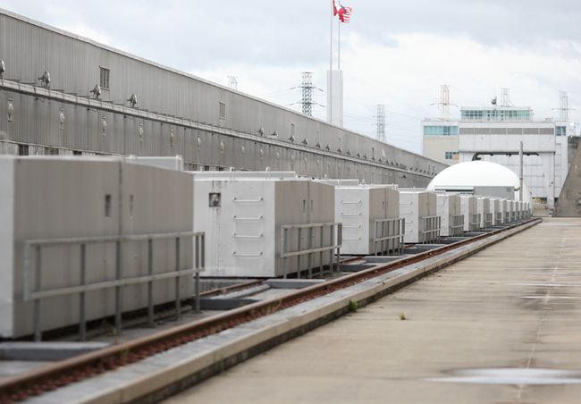 Thirty-two generators line the rooftop of the shared Moses-Saunders Power Dam in Cornwall. ERIC HEALEY/CORNWALL STANDARD-FREEHOLDER/QMI AGENCY