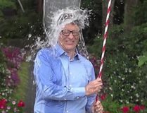 Microsoft founder Bill Gates takes the ALS Ice Bucket Challenge.
