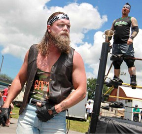 Cody Deaner, foreground, of Parkhill will be wrestling on his home turf. For the first time in 15 years, Parkhill will hold a wrestling event as part of the Fall Fair on Sept. 18th.