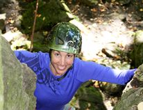 Free Spirit Tours climbing instructor Maggie Smyth.