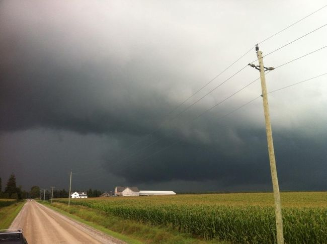 Storm chaser Mark Robinson tweeted out this photo from south of St. Marys, Ont.