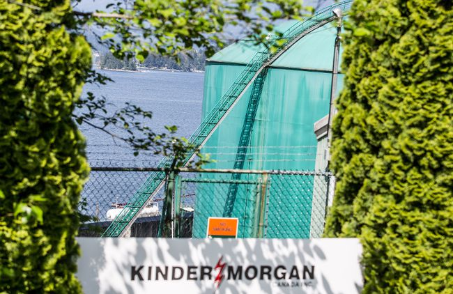 Kinder Morgan's facility in Burnaby. (FILE PHOTO/24 HOURS)